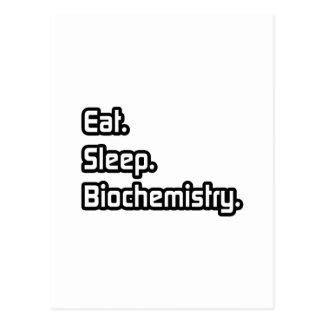 Eat Sleep Biochemistry Post Card