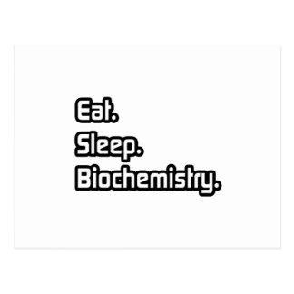 Eat Sleep Biochemistry Postcards