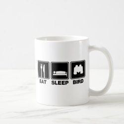 Eat Sleep Bird (binoculars) Classic White Mug