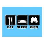 Eat Sleep Bird (bins) Post Cards