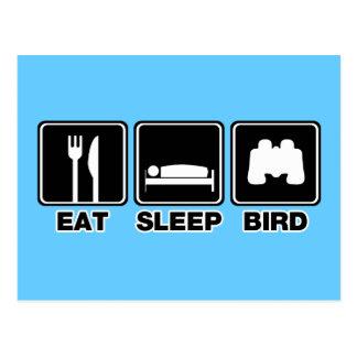 Eat Sleep Bird (bins) Postcard