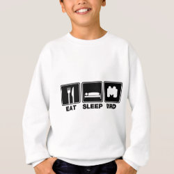 Kids' American Apparel Organic T-Shirt with Eat Sleep Bird (binoculars) design