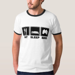 Eat Sleep Bird (binoculars) Men's Basic Ringer T-Shirt