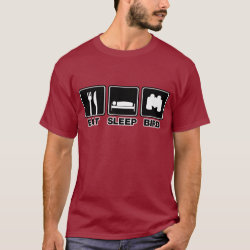 Eat Sleep Bird (binoculars) Men's Basic Dark T-Shirt