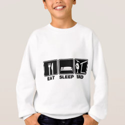 Kids' American Apparel Organic T-Shirt with Eat Sleep Bird (blind) design