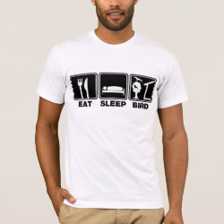 Men's Basic American Apparel T-Shirt with Eat Sleep Bird (blind) design
