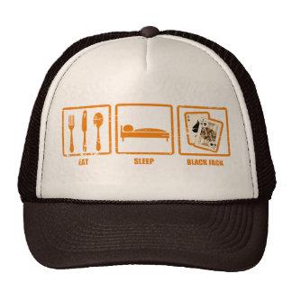 Eat Sleep Blackjack Trucker Hats