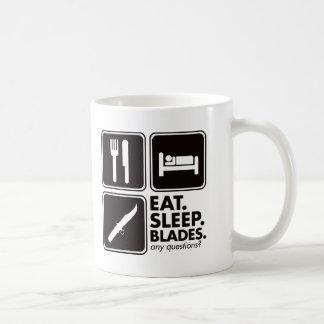 Eat Sleep Blades - Black Coffee Mug