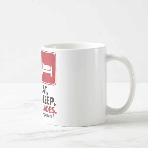 Eat Sleep Blades - Red Coffee Mugs