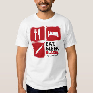 Eat Sleep Blades - Red T-shirt