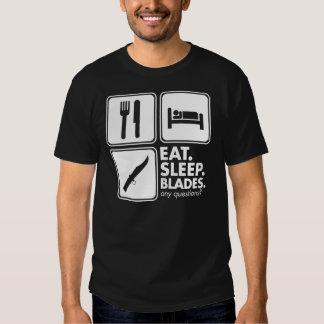 Eat Sleep Blades - White Shirt