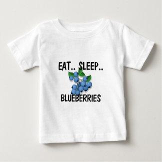 Eat Sleep BLUEBERRIES Baby T-Shirt