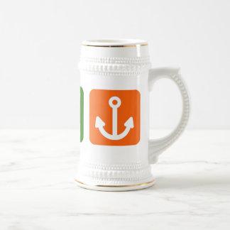 Eat Sleep Boating Beer Stein