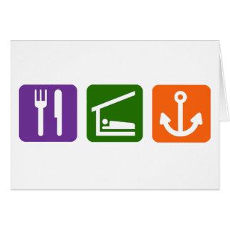 Eat Sleep Boating Card