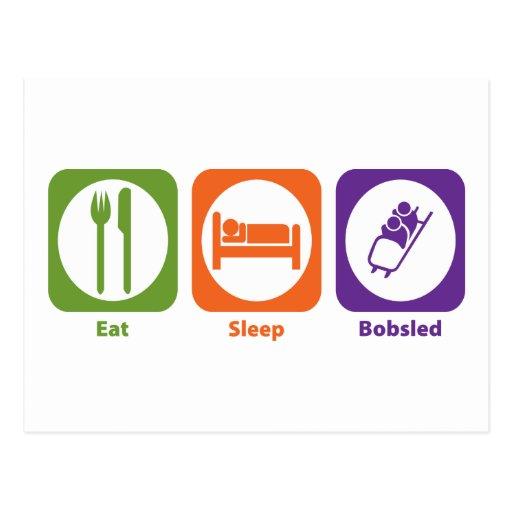 Eat Sleep Bobsled Postcard