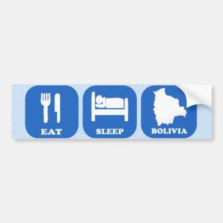 Eat Sleep Bolivia Car Bumper Sticker