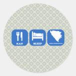 Eat Sleep Bosnia Herzegovina Round Sticker