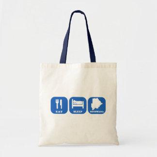 Eat Sleep Botswana Tote Bag