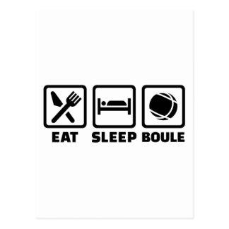 Eat sleep Boule Postcard
