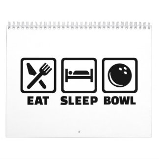 Eat sleep bowl bowling calendar