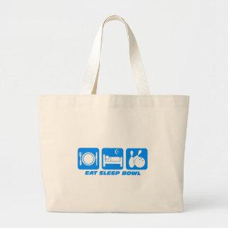 Eat sleep bowl jumbo tote bag