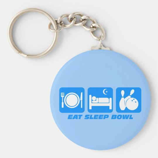 Eat sleep bowl keychain