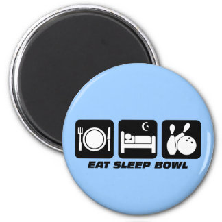 Eat sleep bowl magnet