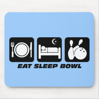 Eat sleep bowl mouse pad
