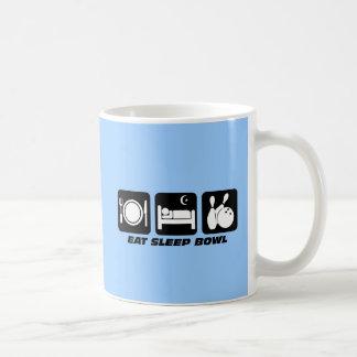 Eat sleep bowl classic white coffee mug