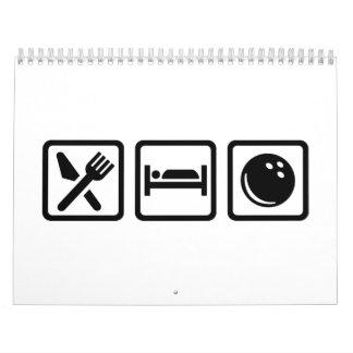 Eat sleep bowling calendar