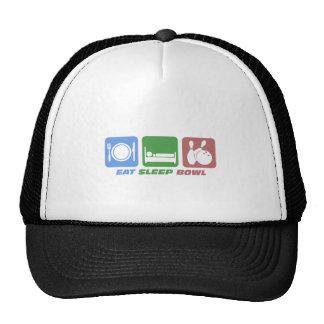 eat sleep bowling trucker hat