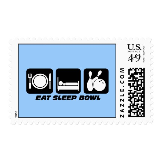 Eat sleep bowling postage
