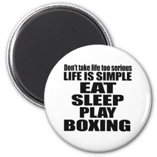 EAT SLEEP BOXING 2 INCH ROUND MAGNET