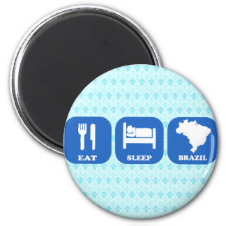 Eat Sleep Brazil Refrigerator Magnet