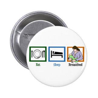 Eat Sleep Breastfeed Pinback Button