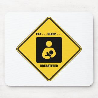 Eat ... Sleep ... Breastfeed (Yellow Diamond Sign) Mousepads