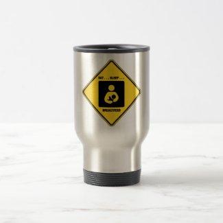Eat ... Sleep ... Breastfeed (Yellow Diamond Sign) Coffee Mug