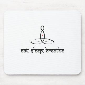 Eat, Sleep, Breathe - Black Sanskrit style Mousepad