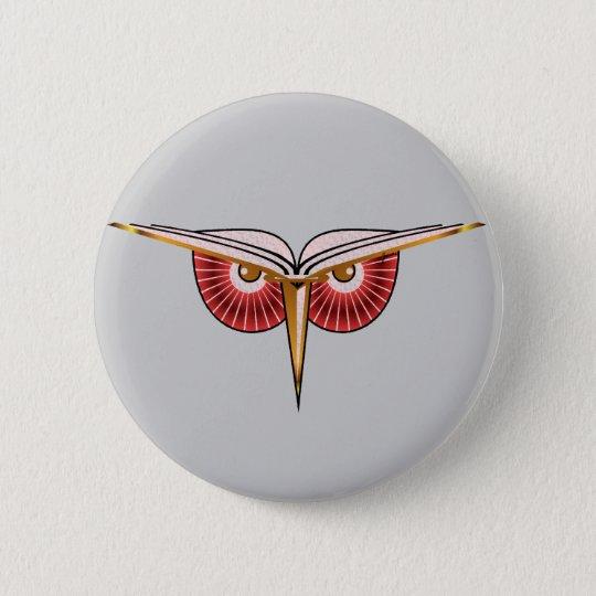 Eat Sleep Breathe Books Owl Button