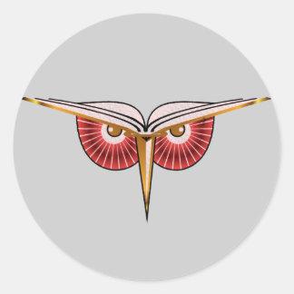 Eat Sleep Breathe Books Owl Sticker