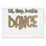 Eat, Sleep, Breathe, DANCE Cards