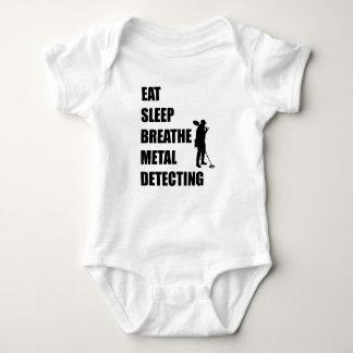 Eat Sleep Breathe Metal Detecting Baby Bodysuit