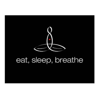Eat, Sleep, Breathe - White Regular style Postcard