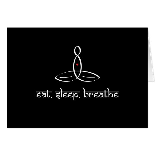 Eat, Sleep, Breathe - White Sanskrit style Card