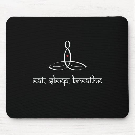 Eat, Sleep, Breathe - White Sanskrit style Mousepad