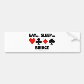 Eat... Sleep... Bridge (Bridge Humor Card Suits) Car Bumper Sticker