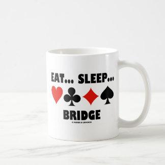Eat... Sleep... Bridge (Bridge Humor Card Suits) Classic White Coffee Mug