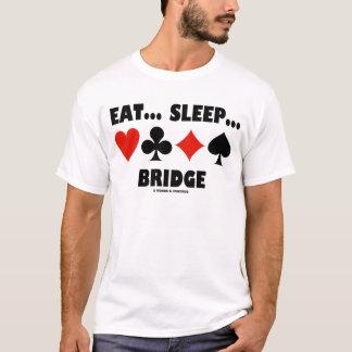 Eat... Sleep... Bridge (Bridge Humor Card Suits) T-Shirt