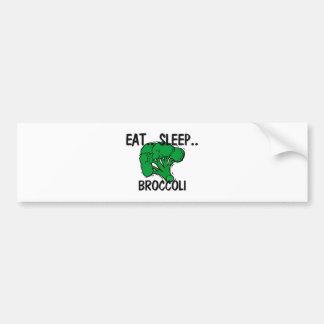 Eat Sleep BROCCOLI Bumper Sticker