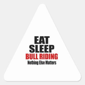 EAT SLEEP BULL RIDING TRIANGLE STICKER